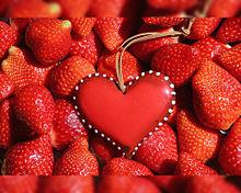 ハート  苺  いちご  イチゴ🍓の画像(果物に関連した画像)