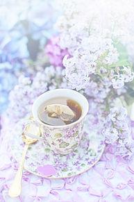 ティータイム  パステル  フラワーの画像(紅茶に関連した画像)