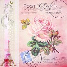 フレンチガーリー  ポストカードの画像(ローズに関連した画像)