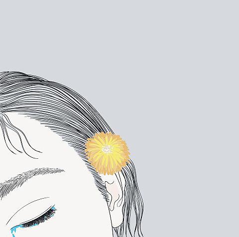 イラスト  女の子  髪飾りの画像 プリ画像