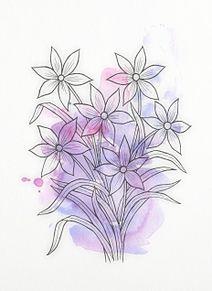 水彩画  パステル  花  フラワーの画像(ペイントに関連した画像)
