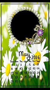 2016年5月カレンダーフレーム   (説明文 必読)の画像(プリ画像)