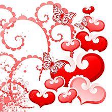 Heart & Butterfly(無透過)  (説明文 必読)の画像(プリ画像)