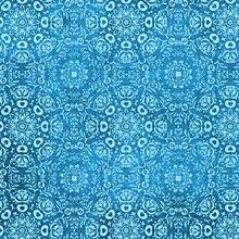 ダマスク柄 (ブルー)   (説明文 必読)の画像(プリ画像)