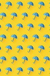 模様*青い傘   (説明文 必読)の画像(プリ画像)