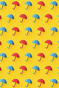 模様*赤と青の傘   (説明文 必読)の画像(プリ画像)