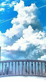 入道雲と飛行機雲   (説明文 必読)の画像(プリ画像)