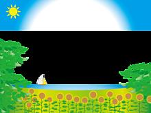 フレーム*夏の風景 (半透明)   (説明文 必読)の画像(プリ画像)