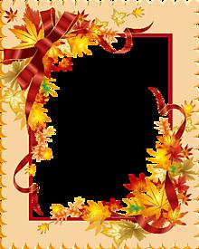 フレーム*秋の贈り物 (部分透過)   (説明文 必読)の画像(プリ画像)