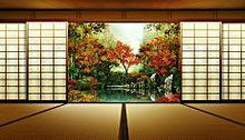 トプ画*座敷から秋の庭園   (説明文 必読)