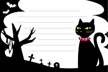 メモ📝ハロウィン黒猫 (無透過)   (説明文 必読)の画像(プリ画像)