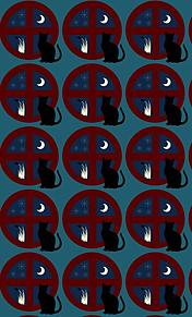 模様*窓辺の黒猫   (説明文 必読)の画像(プリ画像)