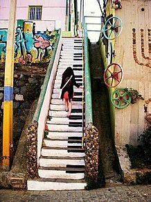 ピアノの階段の画像(プリ画像)