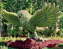 苔植物アート*飛翔するフクロウの画像(プリ画像)