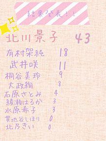 結果発表!!の画像(北川景子 貫地谷しほりに関連した画像)