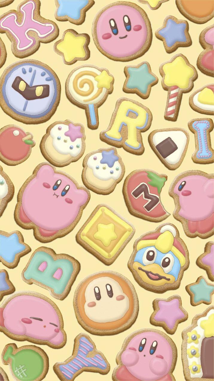 クッキーになった星のカービィの壁紙
