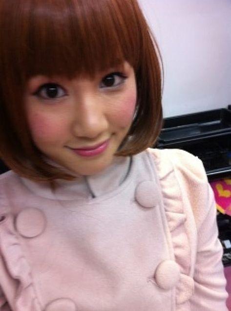 鈴木まりやまりやんぬチームB AKB48  茶髪ボブウィッグの画像(プリ画像)