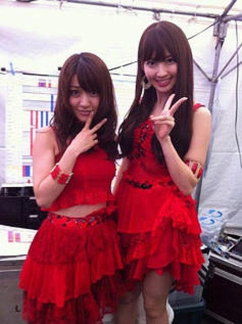 大島優子コリス小嶋陽菜こじはるにゃんにゃんこじゆう秋祭りカラオケメロディーズチームK チームA AKB48の画像(プリ画像)