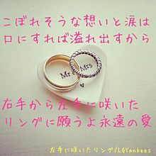 左手に咲いたリング プリ画像