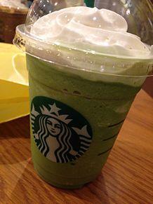 スタバ♡抹茶フラペチーノ♡の画像(プリ画像)