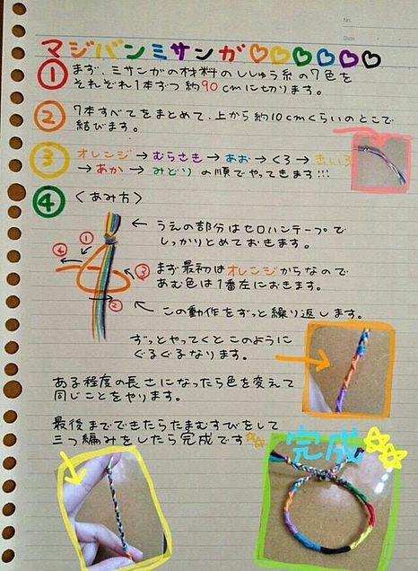 マジバンミサンガ  作り方の画像(プリ画像)