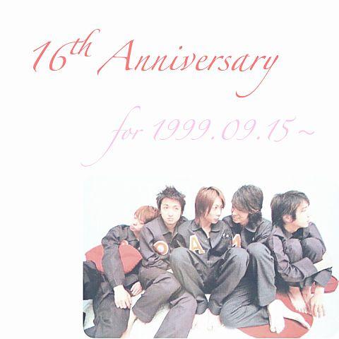 16th Anniversary for 1999.09.15の画像(プリ画像)