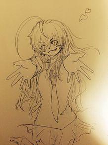 制作途中のニャル子さんの画像(プリ画像)
