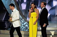 Emmys2016 Jimmy Kimmel Minnie Driver Michael Weatherlyの画像(jimmyに関連した画像)