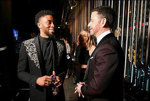 Chadwick Boseman Jimmy Kimmelの画像 プリ画像