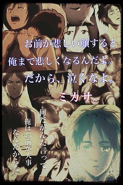 attck on titan/Eren.Mikasaの画像(プリ画像)