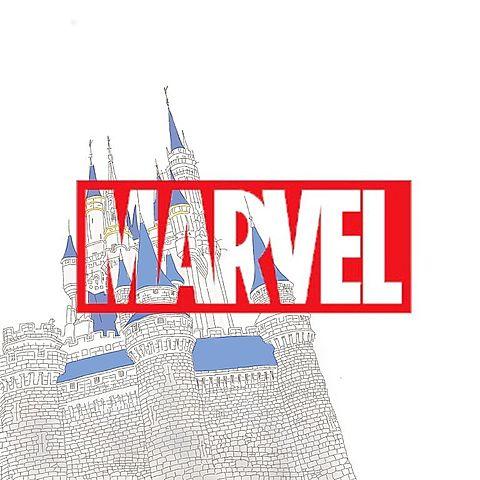 MARVEL×シンデレラ城の画像(プリ画像)
