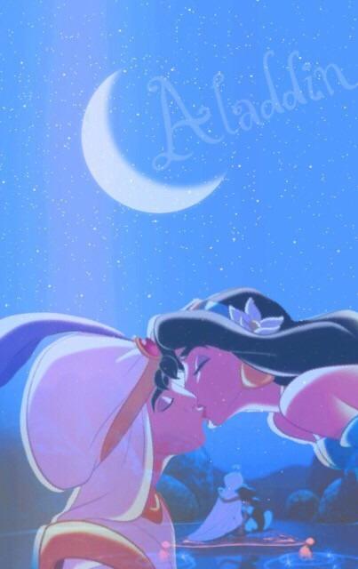 キスするアラジン壁紙