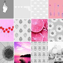ピンク×モノクロの画像(プリ画像)