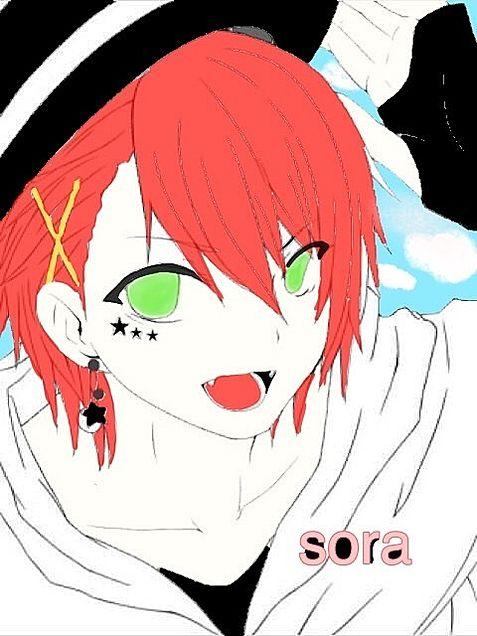 soraさんのイラストに色をつけて見ました色塗り下手ですがの画像 プリ画像