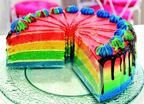 カラフルケーキの画像(プリ画像)