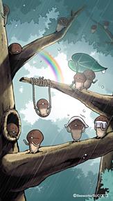 雨の中の画像(虹に関連した画像)