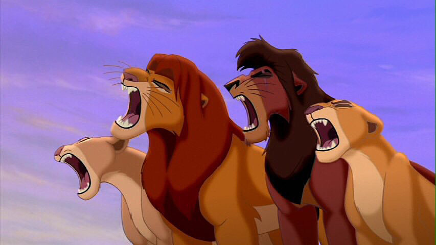 叫ぶライオンキング