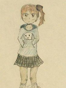 女子高生風に描いてみたオリキャラの画像(女子高生に関連した画像)