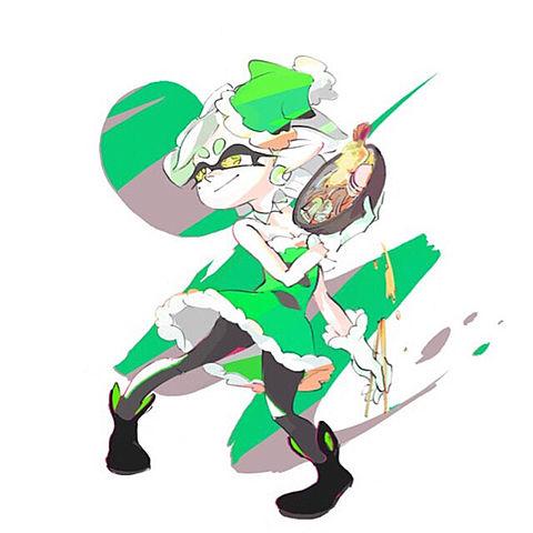 スプラトゥーン 緑のたぬきの画像(プリ画像)