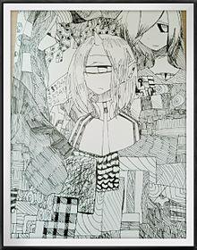 中学二年の時に描いた絵。の画像(人外に関連した画像)