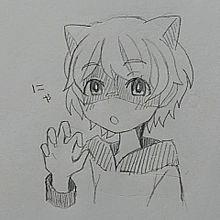 授業中に猫耳アンさん描いてみたの画像(アンさんに関連した画像)