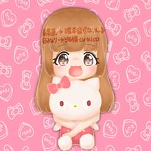 なりんサンとコラボ( ⸝⸝⸝¯ ¯⸝⸝⸝ )♡の画像(キティ イラストに関連した画像)