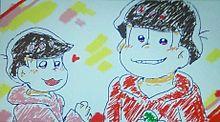カラオケのお絵かき機能で描いた紅松wの画像(プリ画像)