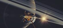 カッシーニと土星 プリ画像