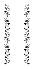 UNDEAD風キンブレシートフレームの画像(キンブレシート あんスタに関連した画像)