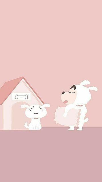 韓国風おしゃれ壁紙  クレヨンしんちゃん 保存は♡の画像(プリ画像)
