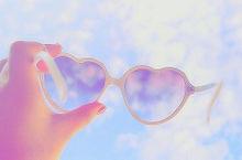 heart sunglassesの画像(プリ画像)