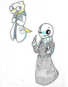 アルフィスとガスターの画像(アンダーテールに関連した画像)