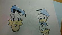 ドナルドダック描いてみた2(色塗ってみた)の画像(プリ画像)