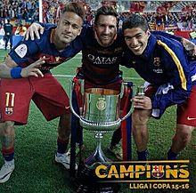 2015-16リーガ・エスパニョーラ王者のFCバルセロナの画像(FCバルセロナに関連した画像)
